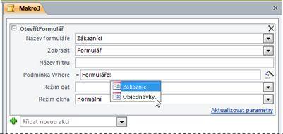 Použití technologie IntelliSense k zadání výrazu