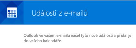 Outlook může vytvářet události z vašich e-mailových zpráv