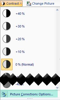 Pokud chcete – upřesnit množství kontrastu, vyberte možnosti automatických oprav obrázku.