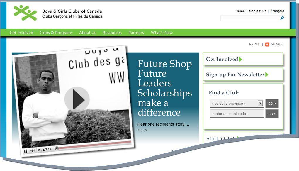Snímek BGCC webu
