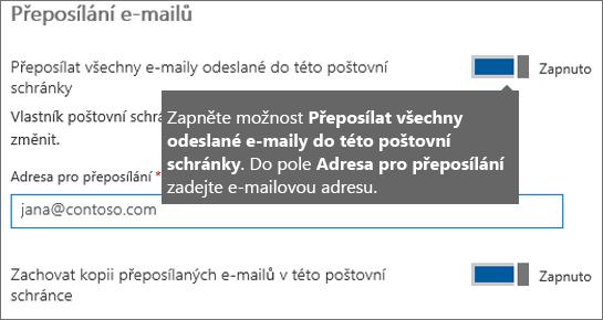 Přidejte e-mailovou adresu aktuálního zaměstnance.