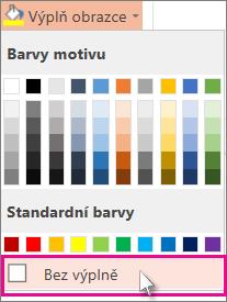 Barva bez výplně