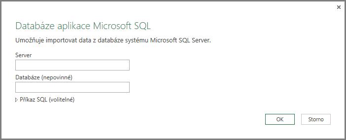 Získání dat z SQL Serveru