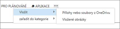 Vložení souboru do položky kalendáře