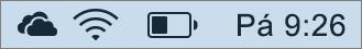 Ikona OneDrivu pro Mac v oznamovací oblasti
