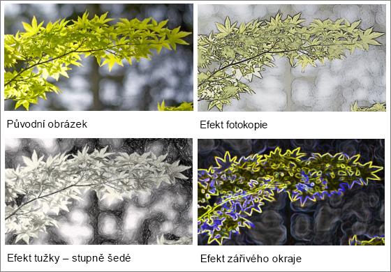 Příklady grafické efekty