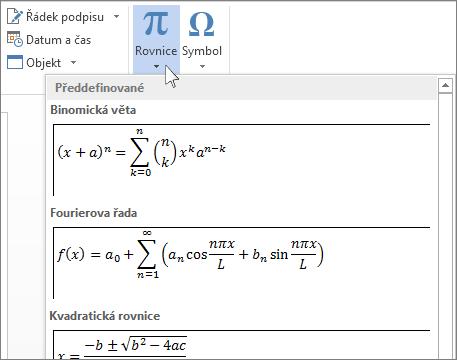 Vložit rovnici