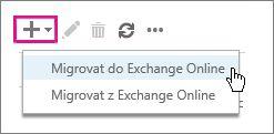 Výběr migrace do Exchange Online