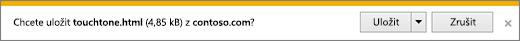 Výzva ke stažení v Internet Exploreru