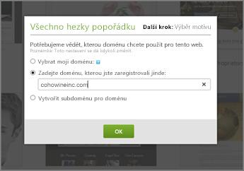 V GoDaddy nejdřív zadejte doménu zaregistrovanou někde jinde.