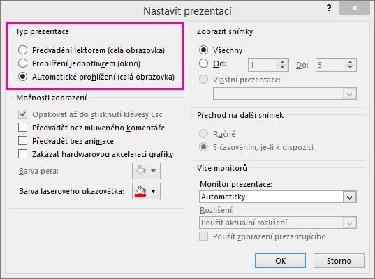 zobrazuje automaticky spouštěný dialog powerpointu