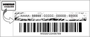 Setřením stírací vrstvy si zobrazte kód Product Key.