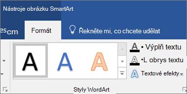 Klikněte na výplň textu nebo textové efekty