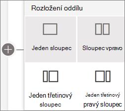 Rozložení oddílů