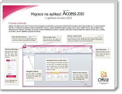 Miniatura Průvodce migrací na aplikaci Access 2010