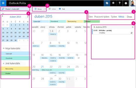 Použití kalendáře ke správě schůzek a dalších událostí