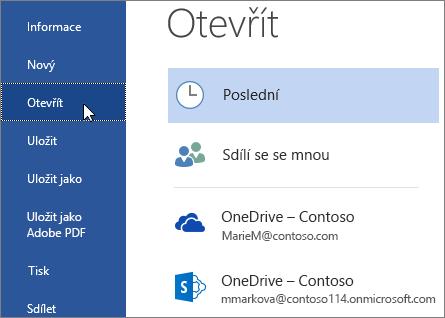 Přihlášení na desktopu