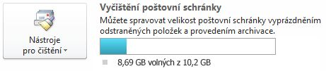 Indikátor volného místa v poštovní schránce