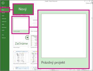 Obrázek tlačítka pro vytvoření nového projektu