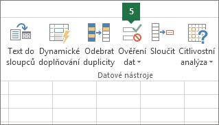 Ověřte rozevírací seznam kliknutím na Data > Ověření dat v Excelu.