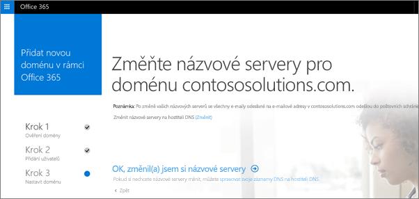 Změna názvových serverů pro doménu