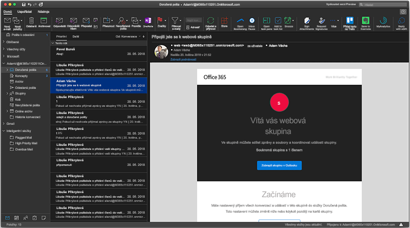 Tmavý režim Outlooku