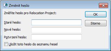 Dialogové okno Změnit heslo