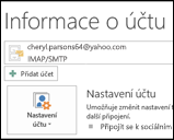 Přidání nového e-mailového účtu