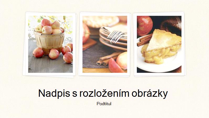 fotka prezentace o jídle