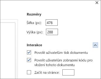 Možnosti pro vložení wordového dokumentu