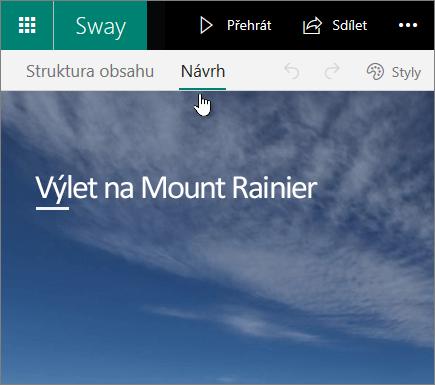 Karta Návrh ve Swayi