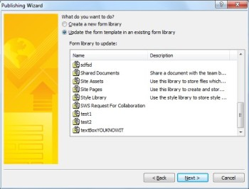 Aplikace InfoPath 2010 – publikování formuláře