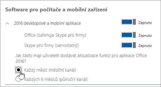 Nastavení měsíčních buildů pro uživatele PC
