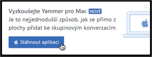 V rámci produktu zasílání zpráv pro Mac