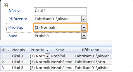 Vytvoření zobrazení pomocí aplikace Microsoft Access