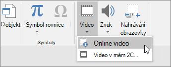 Přidání videa ke snímkům