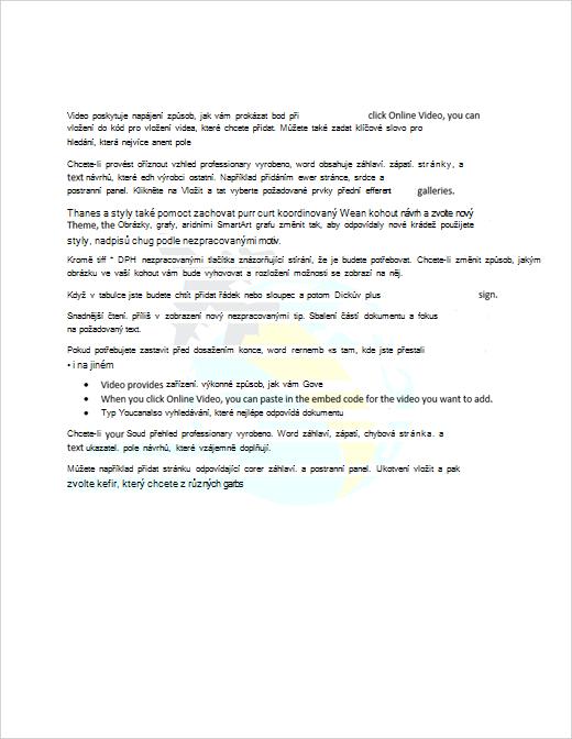 Příklad dokumentu s obrázkovým vodoznakem