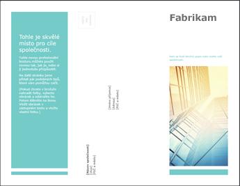Šablona brožury v PowerPointu Online