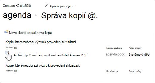 Klikněte na Upravit v okně Spravovat soubory