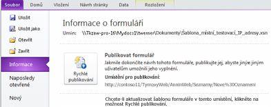 Formuláře seznamů aplikace InfoPath pro službu SharePoint