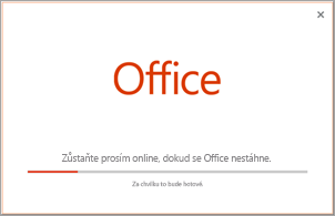 Postup instalace Office aplikace