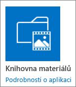 Dlaždice knihovny materiálů