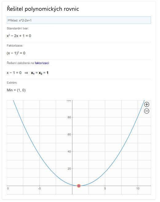 Řešení polynomických rovnic v Bingu