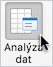 Tlačítko Analýza dat