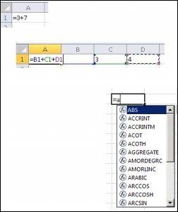 Různé způsoby vytváření vzorců