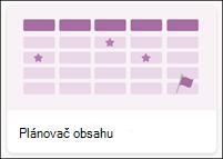 Šablona seznamu plánovače obsahu