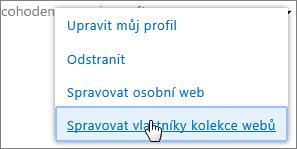 Správa osobního webu