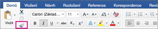 Na domovské stránce tabulátor, zkopírujte formátování z jednoho místa a použít ho na jiném je zvýrazněná možnost.