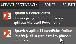 Otevření v PowerPointu Online