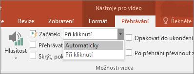 Zobrazí možnosti videa v PowerPointu.